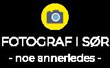 logo fotograf i sør hvit 24